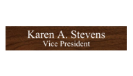 Replacement Nameplates for Desk & Wall Signs