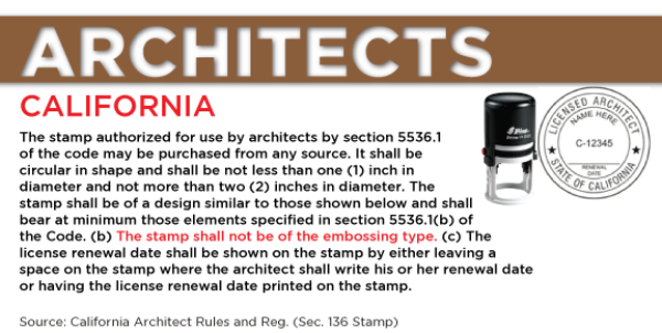 California Architect Seal