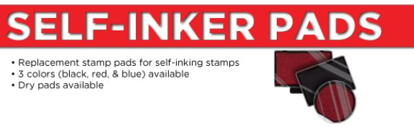 Self-Inker<BR>Replacement Ink Pads