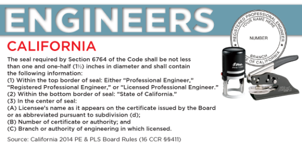 California Engineer Seal Seal