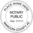 AZ-NOT-RND - Arizona Round Notary Stamp
