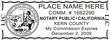 California notary stamp