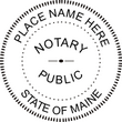 ME-NOT-RND - Maine Round Notary Stamp