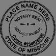 MO-NOT-RND-1 - Missouri Round Notary Stamp