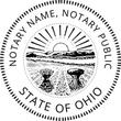 OH-NOT-RND - Ohio Round Notary Stamp