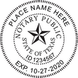 TX-NOT-RND - Texas Round Notary Stamp