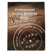 Professional notary journal